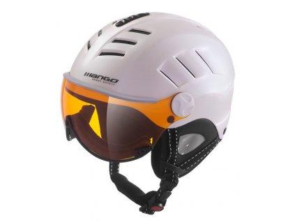 Dámská lyžařská helma Mango Volcano Pro, bílá perleť mat