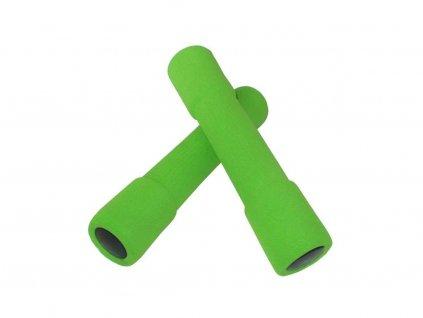 činky aerobic molitanové 2x1kg zelené