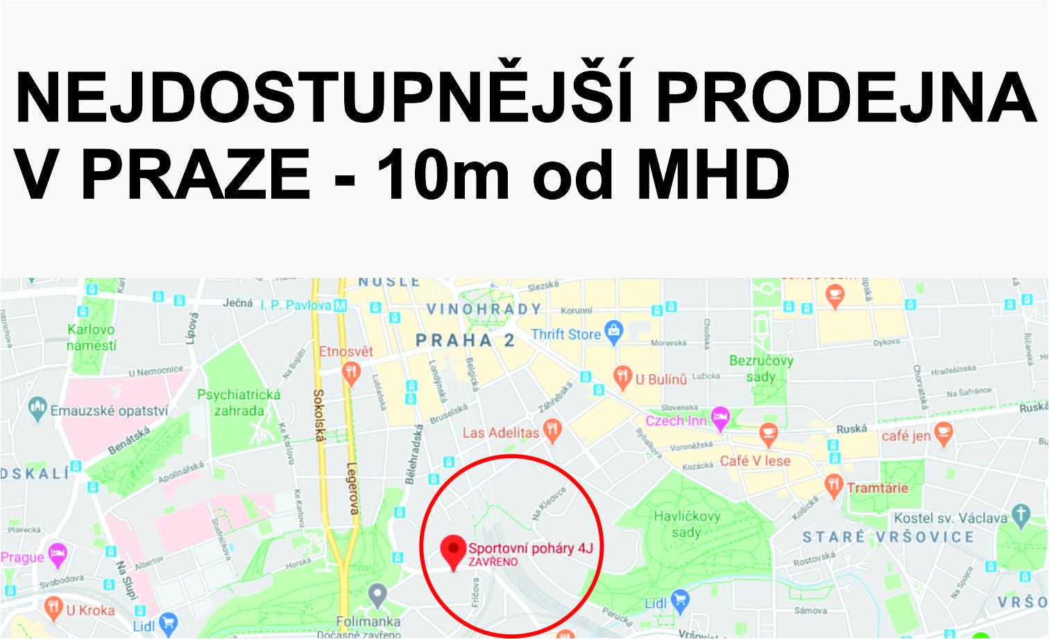 Nejdostupnější prodejna v Praze