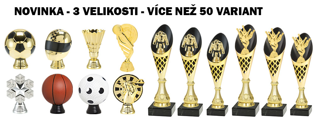 Novinka CP301 - sporty - sportovní poháry - banner