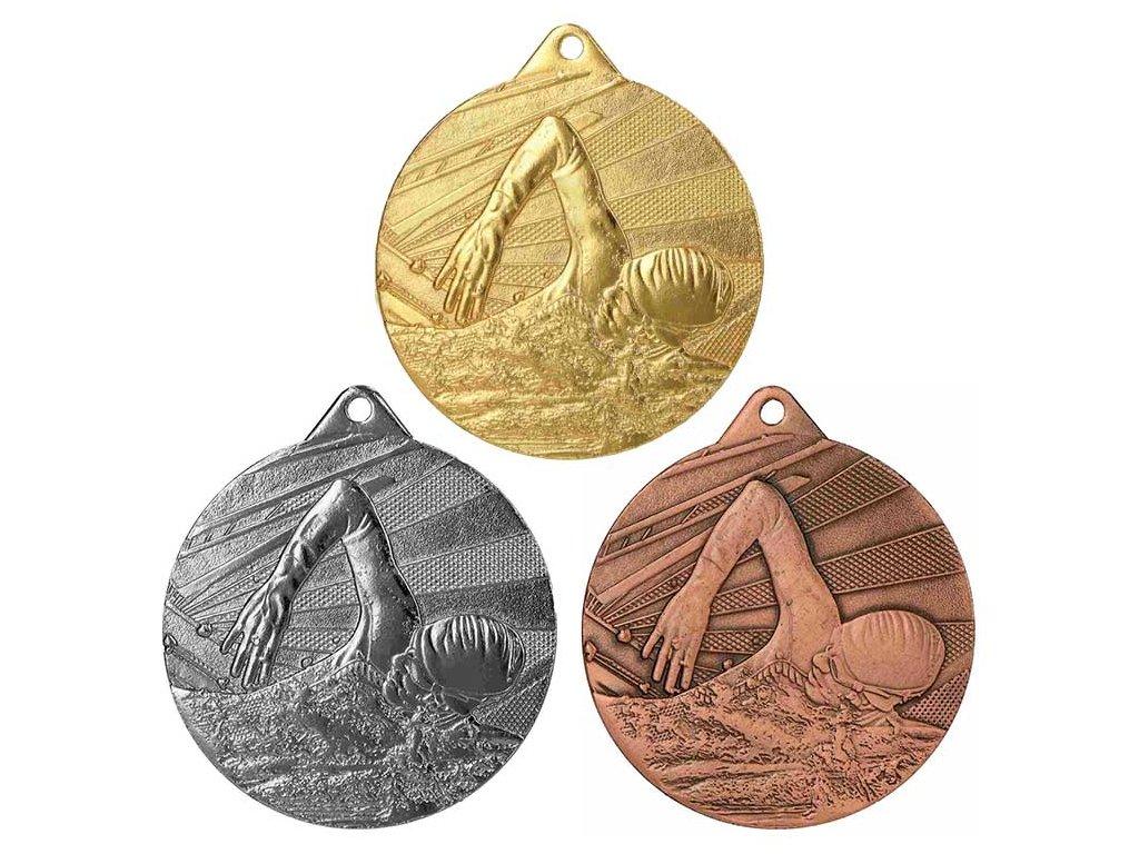 sportovni pohary 4j medaile ME003 plavani sada