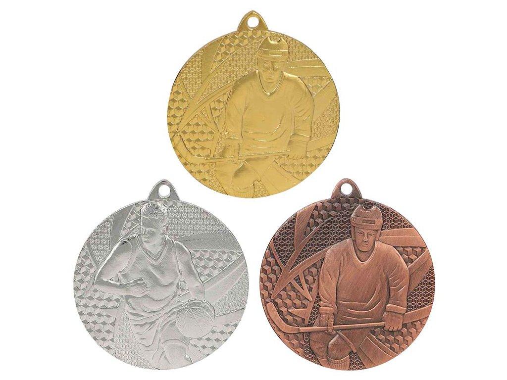sportovni pohary 4j medaile hokej MMC6750 sada