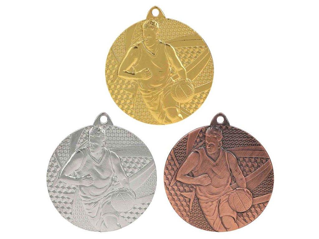 sportovni pohary 4j medaile basketbal MMC6850 sada