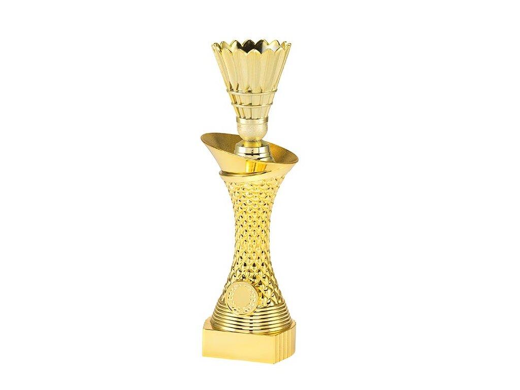 sportovni pohary 4j soska zlata badminton