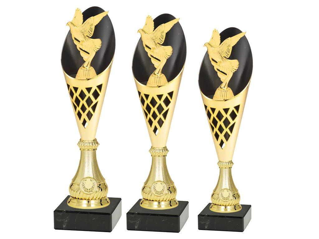 sportovni pohar trofej CP301 holub vystava holubu ptak sada