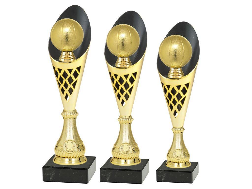 sportovni pohar trofej CP301 basketbal mic zlaty sada