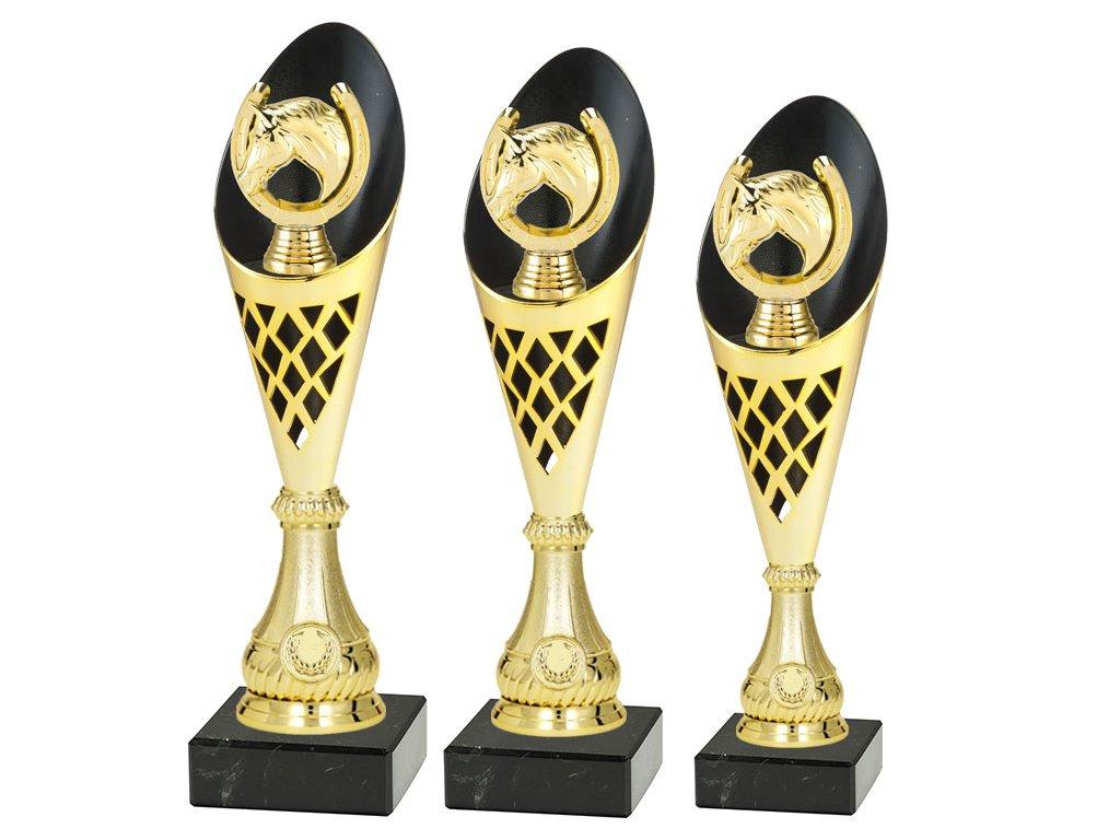 Sportovní pohár  - KŮŇ - PARKOUR - CP310/P525 (Výška poháru Pohár C -KŮŇ - PARKOUR- 36,5cm)