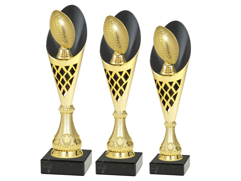 sportovni pohar trofej CP301 americky fotbal rugby mic zlaty sada