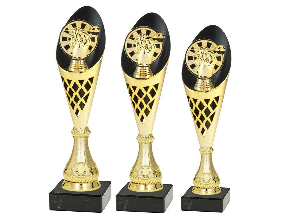 sportovni pohar trofej CP301 sipky zlata sada
