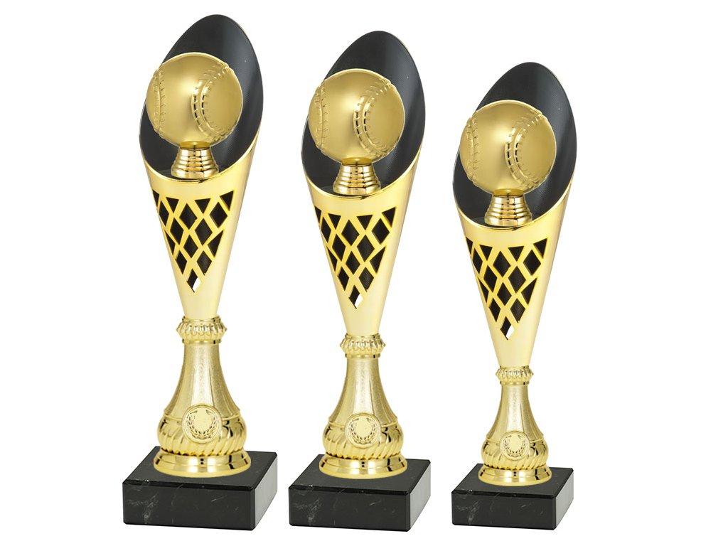 sportovni pohar trofej CP301 softbal basebal mic zlaty sada