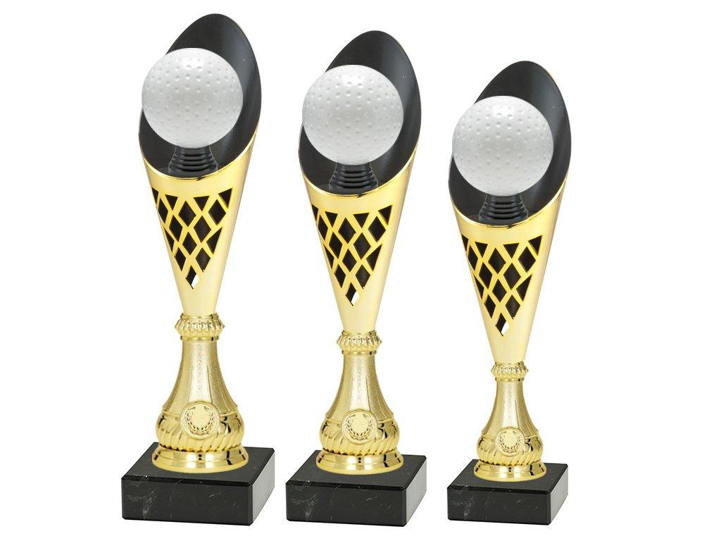 sportovni pohar trofej CP301 P513 multi mic zlaty pozemni hokej sada