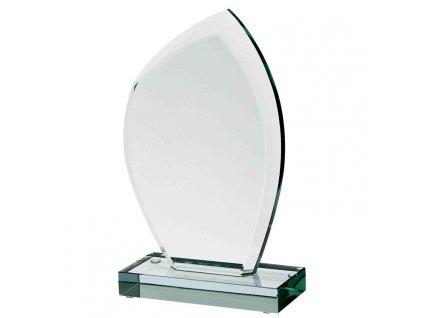 sklenena plaketa gravirovani pohary 4j G010