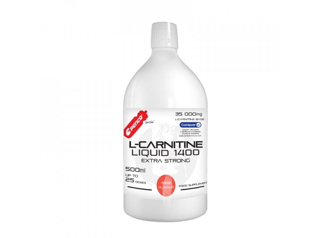 PENCO Spalovač tuků L- KARNITIN LIQUID Pomeranč, 500 ml