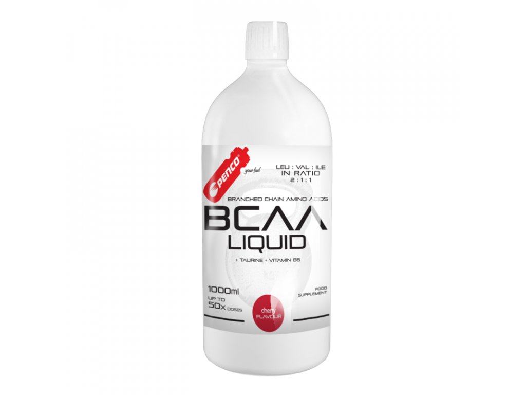 PENCO Tekuté aminokyseliny BCAA LIQUID 1000ml Třešeň