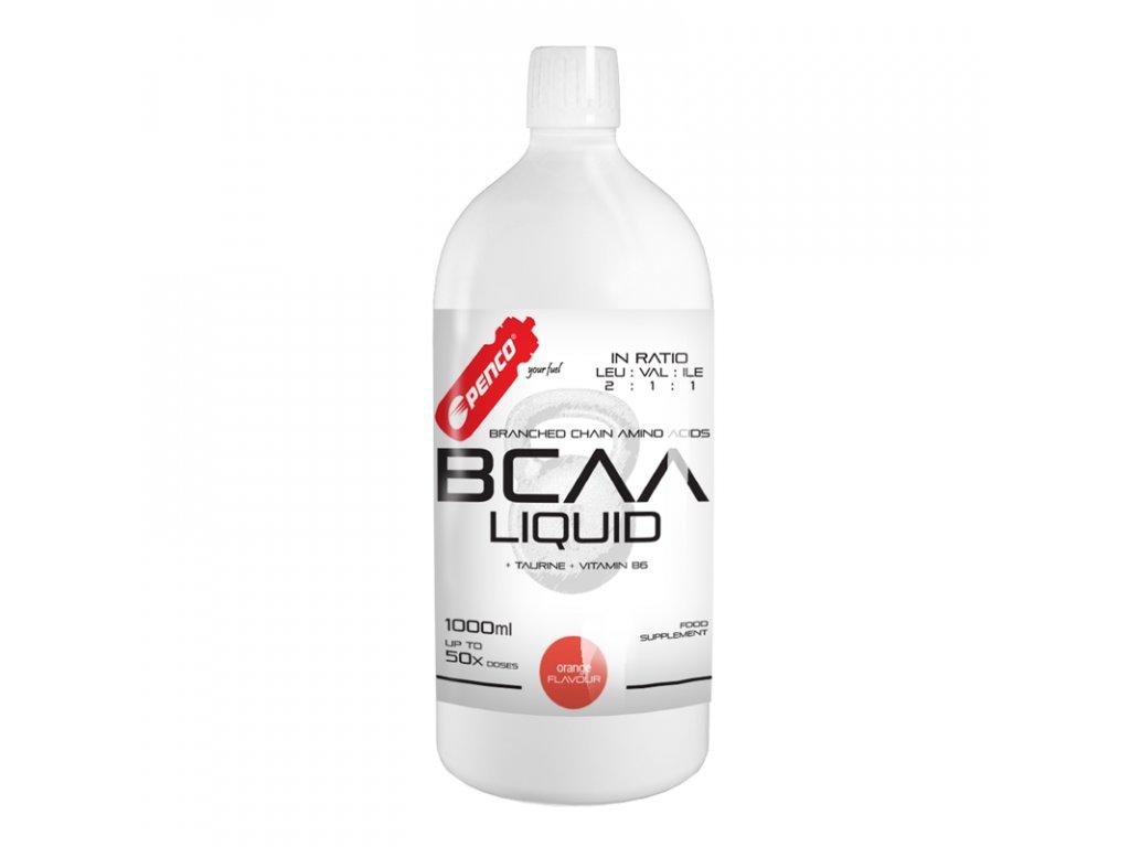 PENCO Tekuté aminokyseliny BCAA LIQUID 1000ml Pomeranč