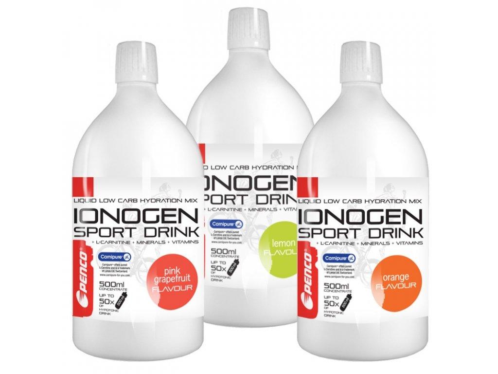 PENCO Iontový nápoj IONOGEN 500ml Růžový grep