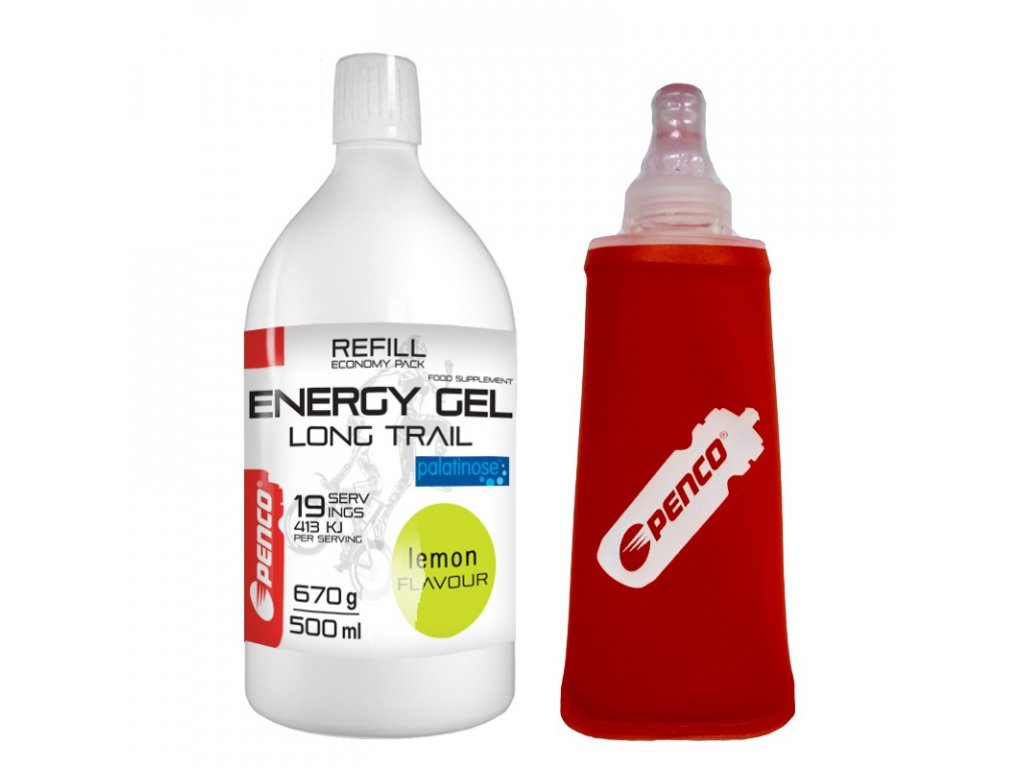 PENCO Energetický gel LONG TRAIL REFILL Citron + Penco Soft Flask 150ml