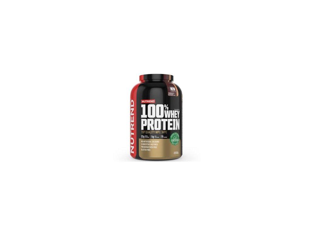 100% Whey Protein 2,25kg NEW čokoláda lískový ořech + Šejkr ZDARMA