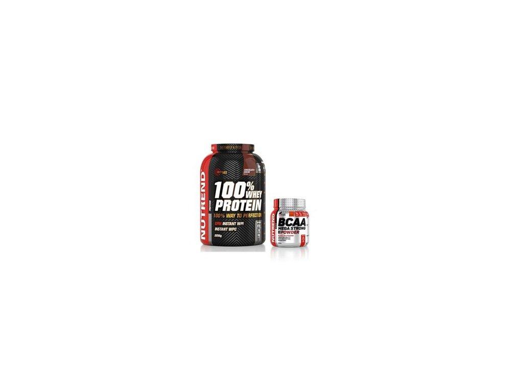 100% Whey Protein 2,25kg piňa colada + BCAA Mega Strong 300g ZDARMA