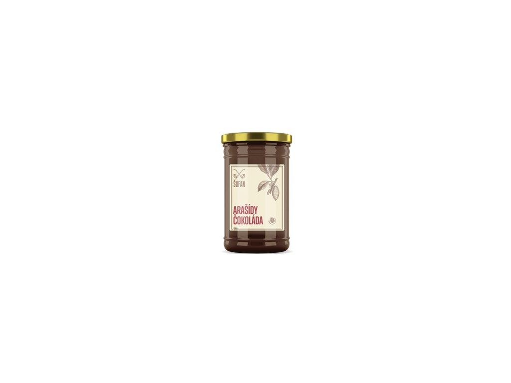 Arašídy - Čokoláda pražené mělněné 1000g (Arašídovo-čokoládový krém)