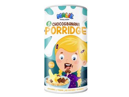 Malie Porridge choco and banana Bio 250g (Ovesná kaše Bio s čokoládovo - banánovou příchutí)