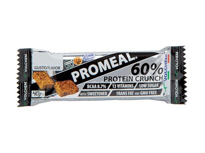 Volchem Promeal Protein Crunch Bar 60 % 40 g (Příchuť Kakao)