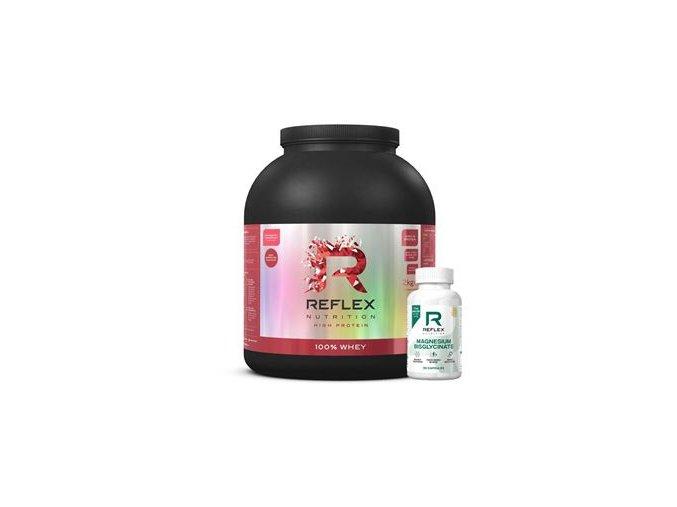 100% Whey Protein 2kg jahoda a malina + Pre Workout 300g