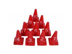 cawila markierungskegel s 10er set mit nummern 1 10 rot size 23cm 0e3