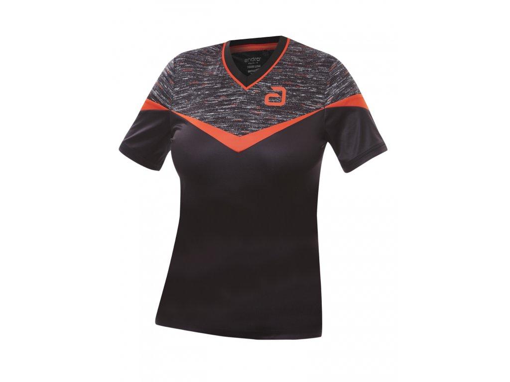 302161 teslin shirt w black red