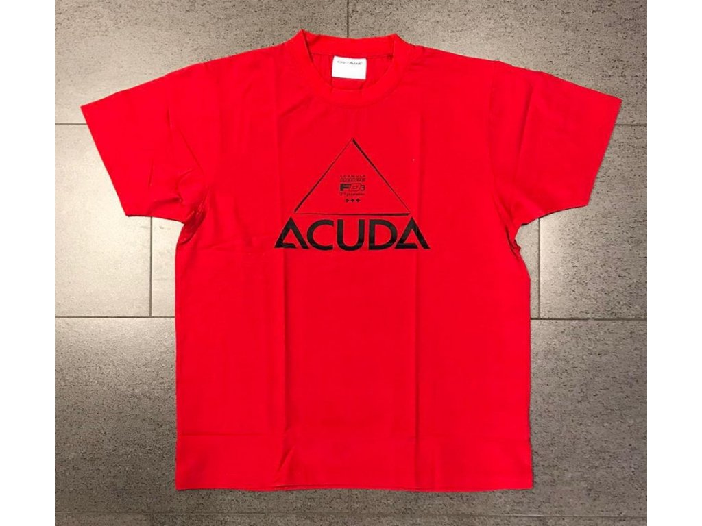 T shirt Acuda red front