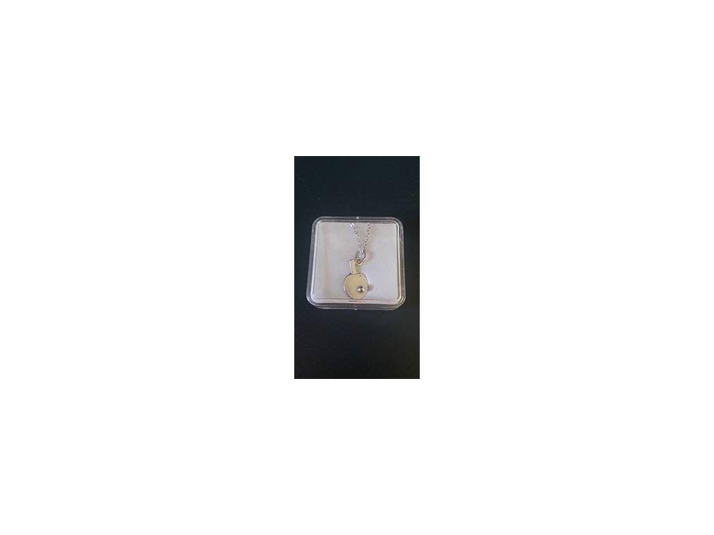 Stříbrný řetízek s pálkou TIBHAR menší