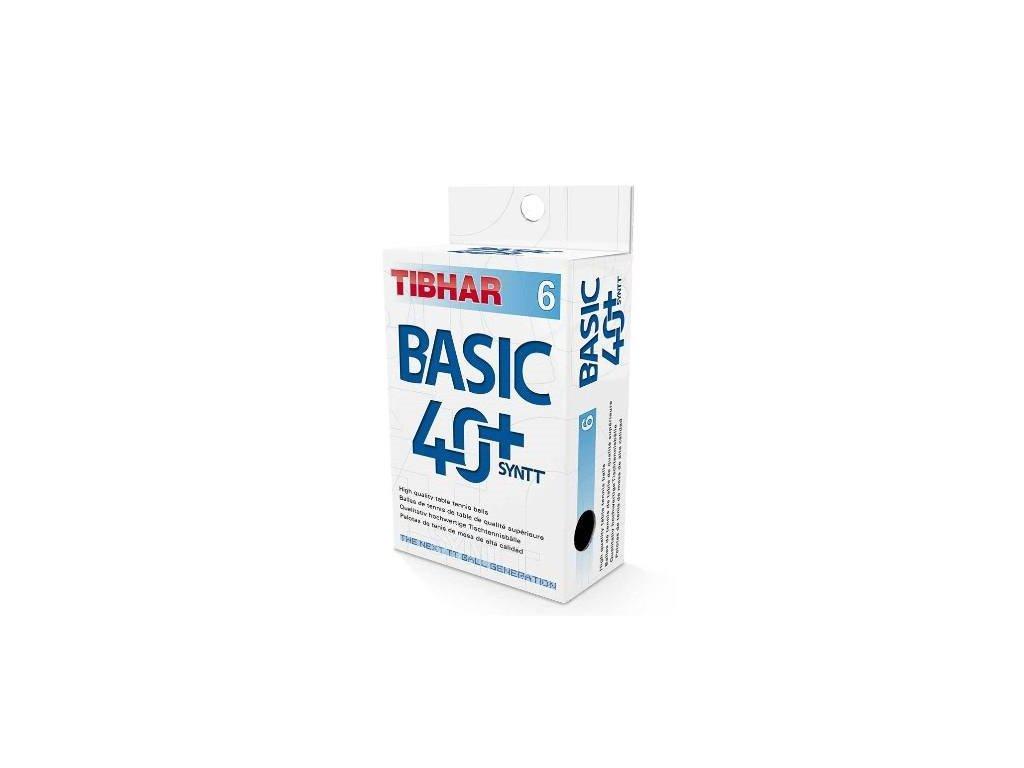 Míčky TIBHAR Basic Syntt 40+ 6 ks