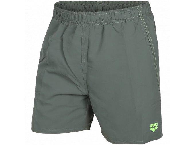 Arena FUNDAMENTALS BOXER army/shiny green pánské koupací šortky