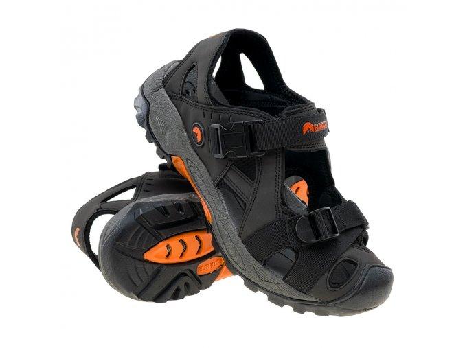 Elbrus Sengat Black/Orange pánské sandály