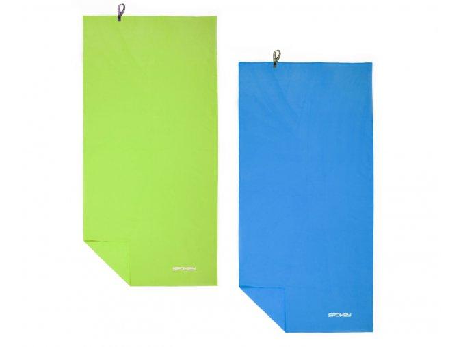Spokey SIROCCO XL Rychleschnoucí ručník 80x150 cm, s odnímatelnou sponou