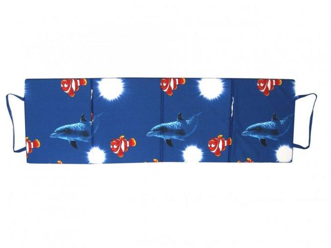 Skládací plážové molitanové lehátko Trieste-10 165x60x3 cm