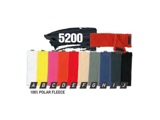 Capu 5200 fleecová zimní čelenka na suchý zip