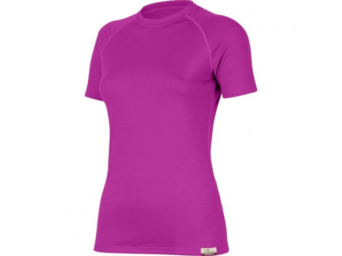 Lasting Alea dámské vlněné merino triko 4848 růžové