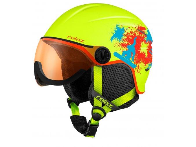 Relax TWISTER VISOR RH27B dětská/juniorská lyžařská helma