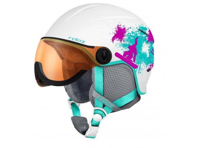 Relax TWISTER VISOR RH27G dětská/juniorská lyžařská helma