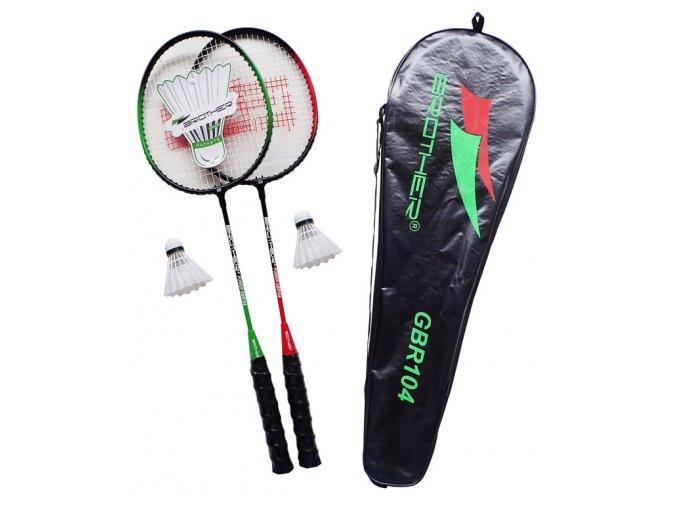 Brother GBR104 Badmintonová sada 2 pálky + 2 košíčky + pouzdro