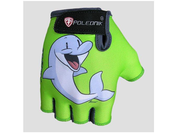 POLEDNIK Baby New dětské cyklistické rukavice delfín