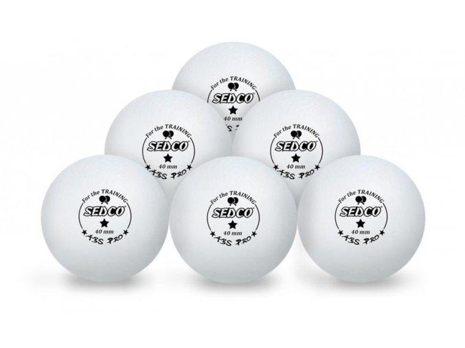 Sedco for TRAINING 1* CELL FREE Míčky na stolní tenis plast 6ks