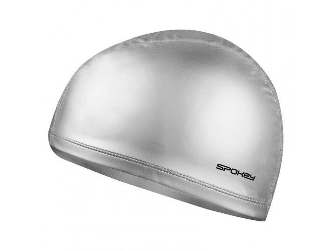 Spokey TORPEDO Plavecká čepice dvouvrstvá stříbrná