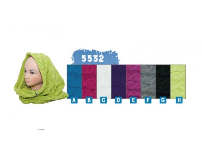 Capu 5532 dámská pletená šála