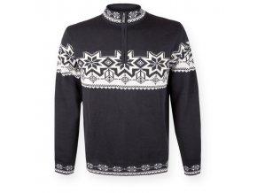 Kama 491 black pánský svetr