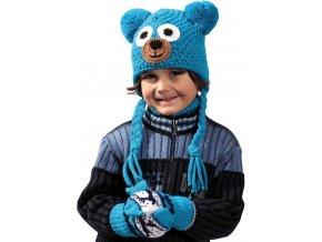 Pletex H050 Medvídek dětská pletená zimní čepice