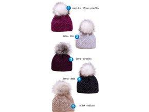 Pletex L444 dámská pletená zimní čepice