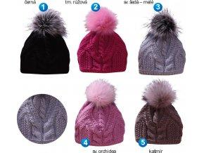 Pletex L451 dámská pletená zimní čepice
