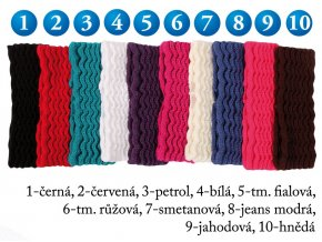 Pletex 546 dámská pletená široká čelenka